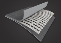 Puncture-resistant 3-ply laminated material