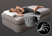 20in Twin Dura-Beam Prime Comfort Elevated Airbed with Built-In Electric Pump