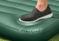 8.75in Twin Downy Airbed with Built-In Foot Pump