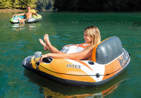 Designed with a built-in backrest for easy cruising and a mesh bottom that keeps you cool