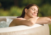 Pamper yourself in relaxing water up to 104 degrees Fahrenheit