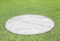 Ground cloth to protect bottom surface and minimize heat loss