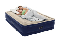 18in Queen Elevated Deluxe Airbed with Built-In Electric Pump