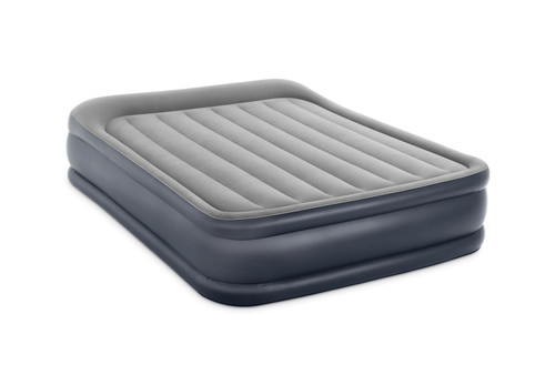 16.5in Queen Dura-Beam Deluxe Pillow Rest Raised Airbed with Internal Pump