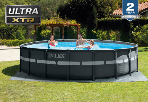 18ft X 52in Ultra XTR Frame Pool Set with Sand Filter Pump