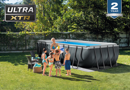 18ft X 9ft X 52in Ultra XTR Frame Rectangular Pool Set with Sand Filter Pump