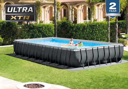 INTEX 32ft X 16ft X 52in Ultra XTR Frame Pool Set with Sand Filter Pump & Saltwater System