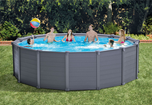 15ft 8in X 49in Graphite Gray Panel Pool Set
