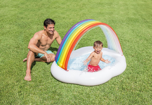 Rainbow Cloud Baby Pool