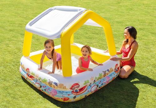 INTEX Lazy Snail Baby Toddler Sun Shade Kids Canopy UV Paddling Pool Summer