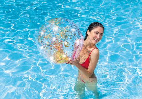 Transparent Glitter Beach Balls