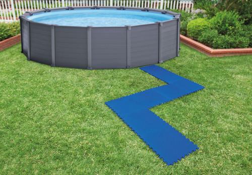 Interlocking Padded Floor Protector, Blue