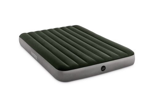 10in Queen Dura-Beam Prestige Downy Airbed with Hand-held Battery Air Pump