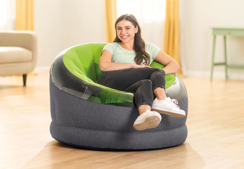 Modern, sophisticated and endlessly comfortable best describes this new addition to our line of inflatable chairs.