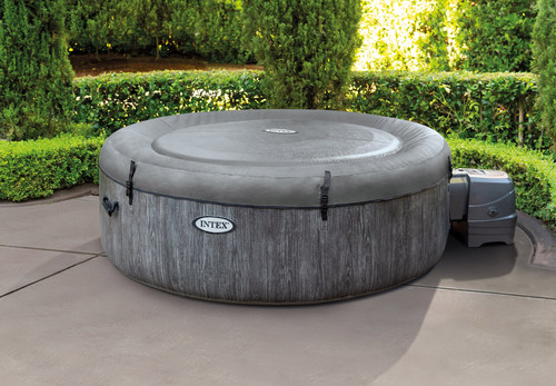 Intex PureSpa Greywood Deluxe 4-Person Spa Set