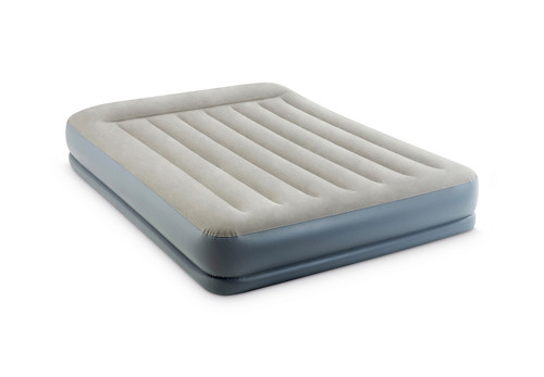 12in Queen Dura-Beam Pillow Rest Mid-Rise Airbed with QuickFill Plus Internal Pump