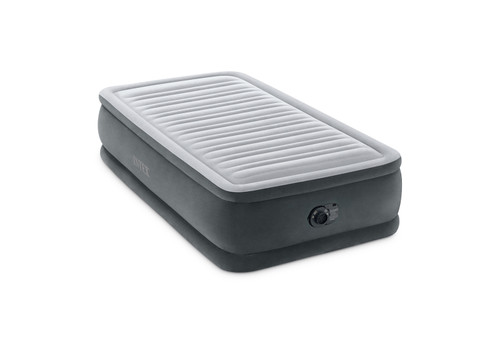 18in Twin Dura-Beam Comfort-Plush Airbed with QuickFill Plus Internal Pump