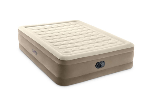 18in Queen Dura-Beam Ultra Plush Airbed with QuickFill Plus Internal Pump