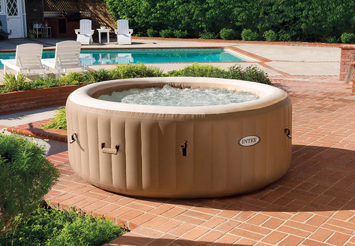 Intex PureSpa Bubble Massage Spa with Energy Efficient Spa Cover