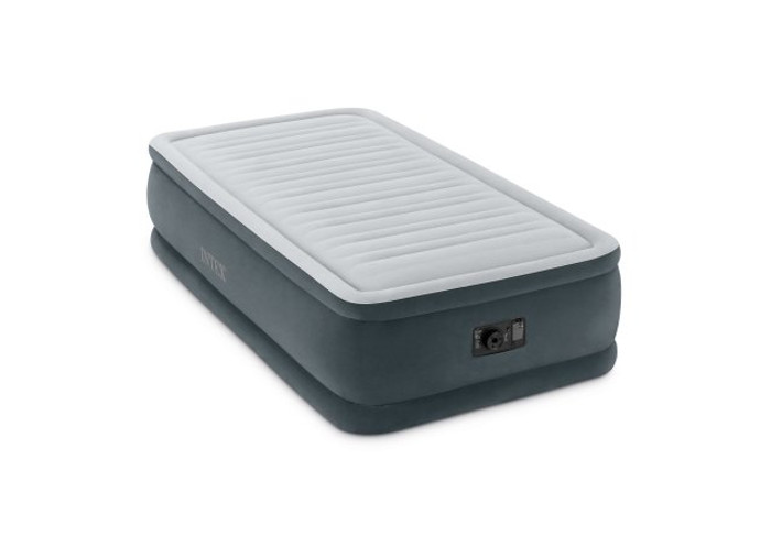 18in Twin Comfort Plush Elevated Airbed with Built-In Electric Pump
