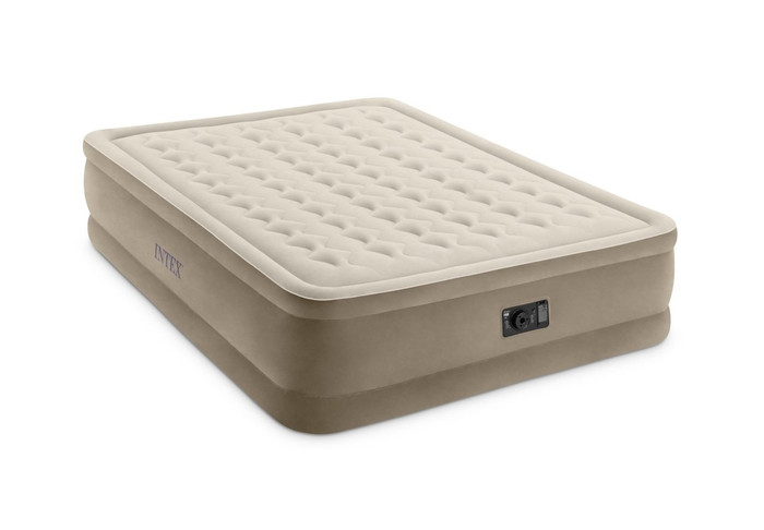 18in Queen Ultra Plush Airbed with Built-In Electric Pump