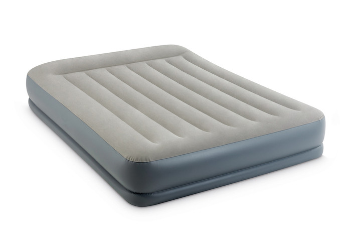 12in Queen Dura-Beam Pillow Rest Mid-Rise Airbed with Internal Pump