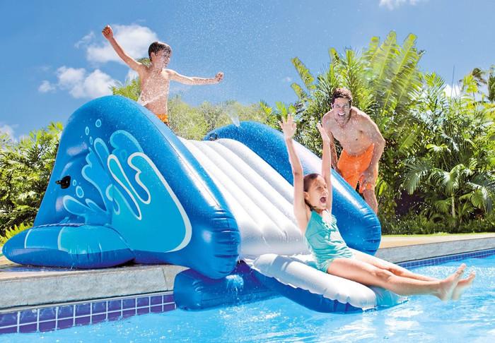 Sporting Goods New 58849ep Kool Splash Water Slide Intex Wide Varieties Inflatables