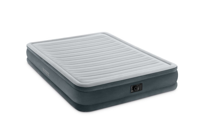 13in Queen Comfort-Plush Mid Rise Airbed with Built-In Electric Pump