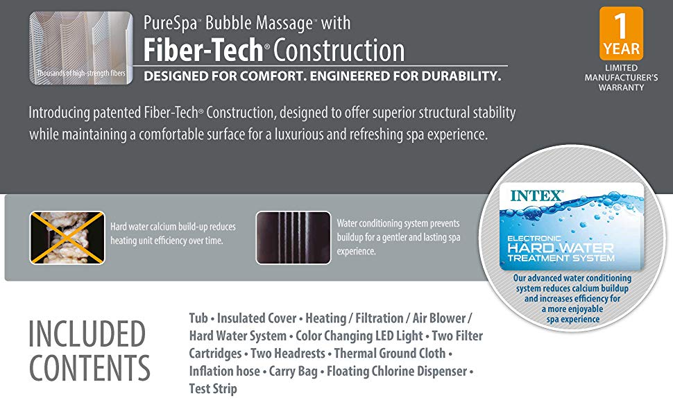 Designed for Comfort. Engineered for Durability. Introducing patented Fiber-Tech® Construction, designed to offer superior structural stability while maintaining a comfortable surface for a luxurious and refreshing spa experience.