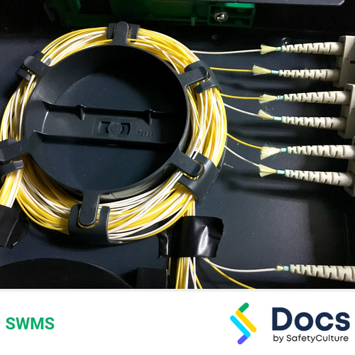 Communications (Fibre Optic Termination) SWMS | Safe Work Method Statement
