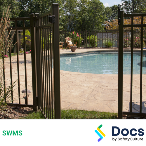 Fencing (Swimming Pool) SWMS | Safe Work Method Statement
