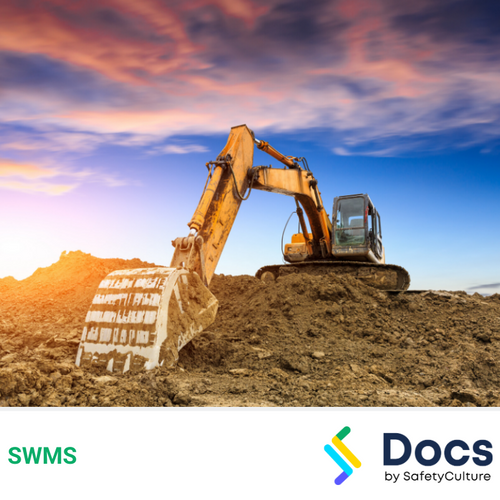 Excavator Operation SWMS | Safe Work Method Statement