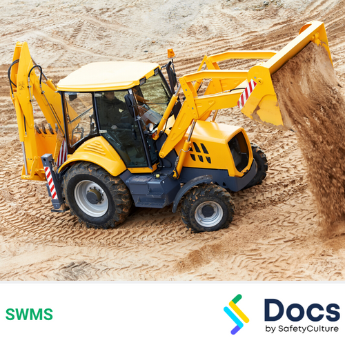 Backhoe Loader Operation SWMS | Safe Work Method Statement