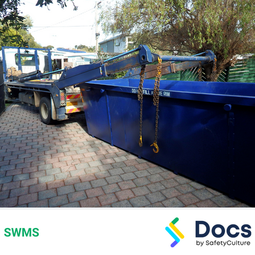 Skip Bin (Truck Mounted Hook Lift) SWMS | Safe Work Method Statement