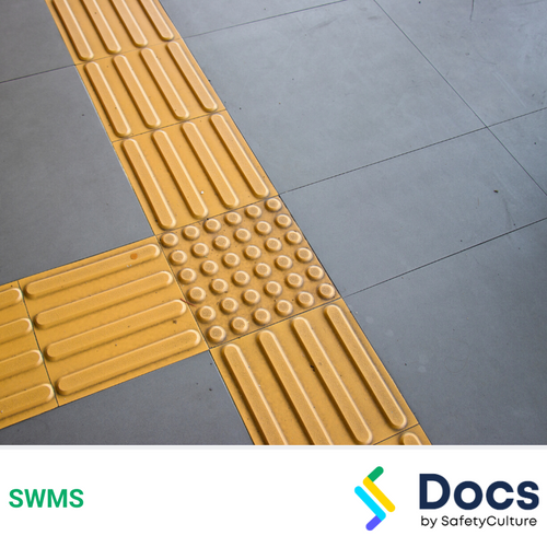 Tactile Paving SWMS | Safe Work Method Statement