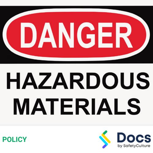 Hazardous Materials Policy (Asbestos, Lead, Silica)