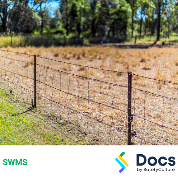 Fencing (Wire Stranded) SWMS | Safe Work Method Statement