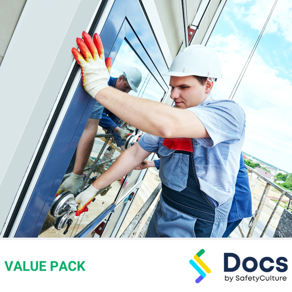 Glazing SWMS | Safe Work Method Statement Value Pack