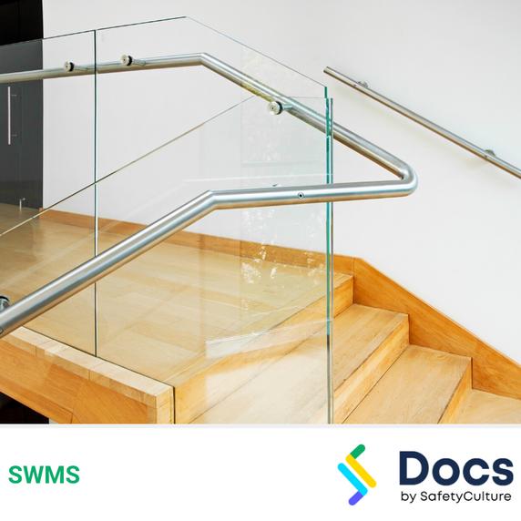 Glass Balustrade Installation SWMS   Safe Work Method Statement
