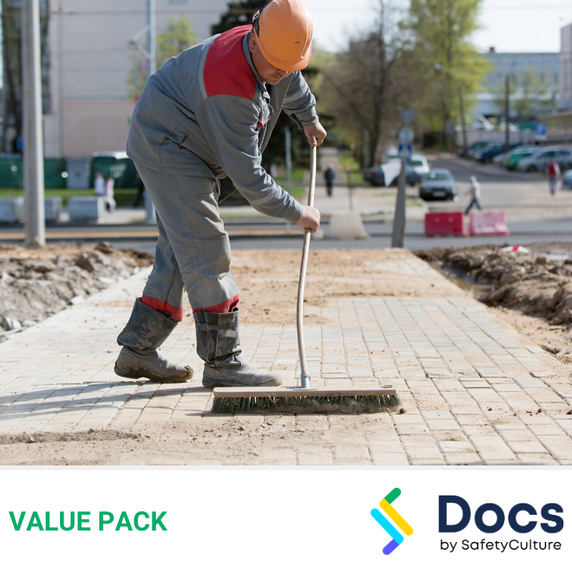 Builders Cleaning SWMS | Safe Work Method Statement Value Pack