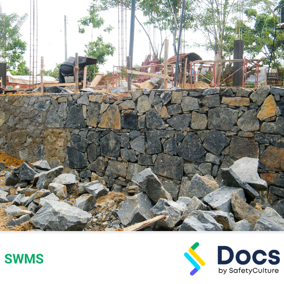 Retaining Wall (Rock) SWMS | Safe Work Method Statement