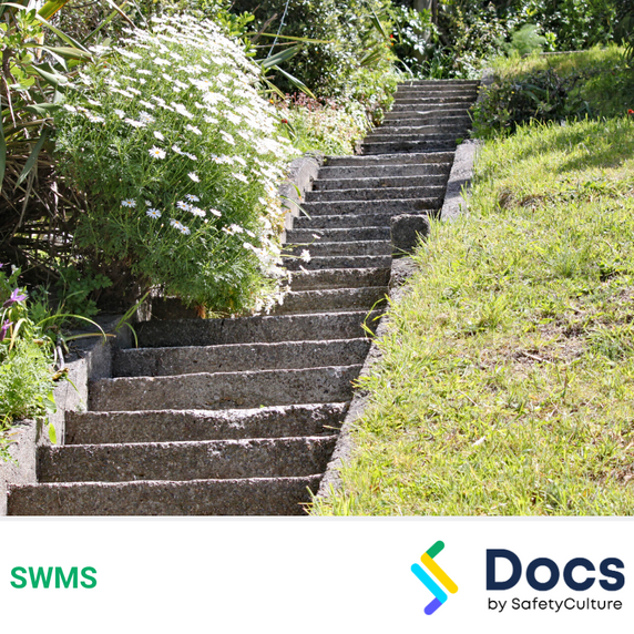 Landscaping (Slopes) SWMS | Safe Work Method Statement