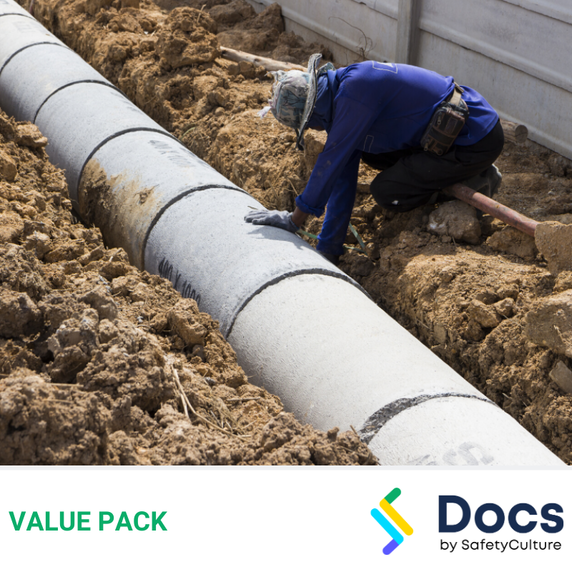 Plumbing (Civil Drainage) SWMS | Safe Work Method Statement Value Pack