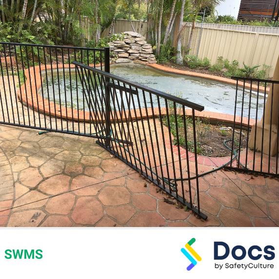 Make Safe (Pool - Perimeter Fencing) SWMS | Safe Work Method Statement