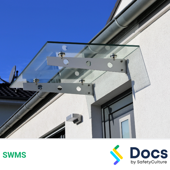 Glass Awning Installation (Using Scissor Lift) SWMS | Safe Work Method Statement