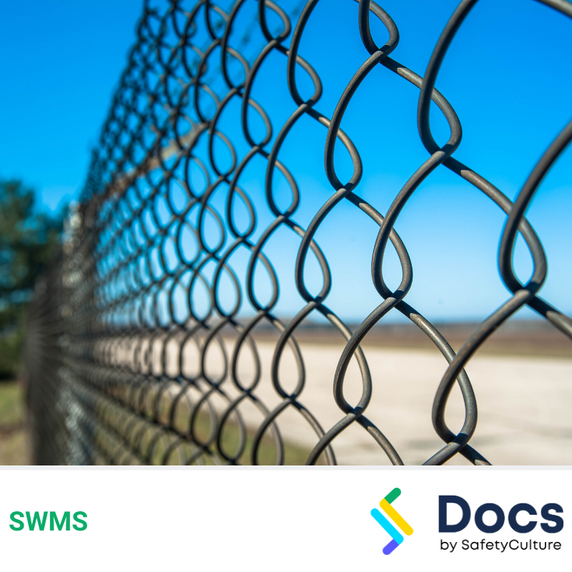 Fencing (Chain Link) SWMS | Safe Work Method Statement