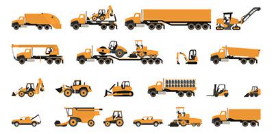 Construction machinery set of earthmoving mobile plant|SafetyDocs
