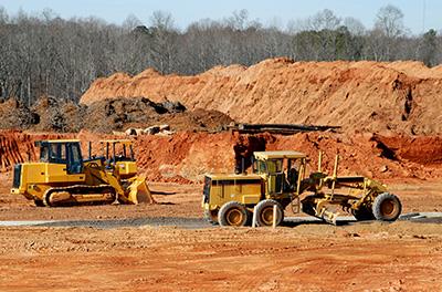 Mobile Plant on a worksite including a grader and bulldozer|SafetyDocs