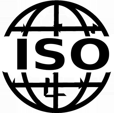 ISO standard wording on a  globe