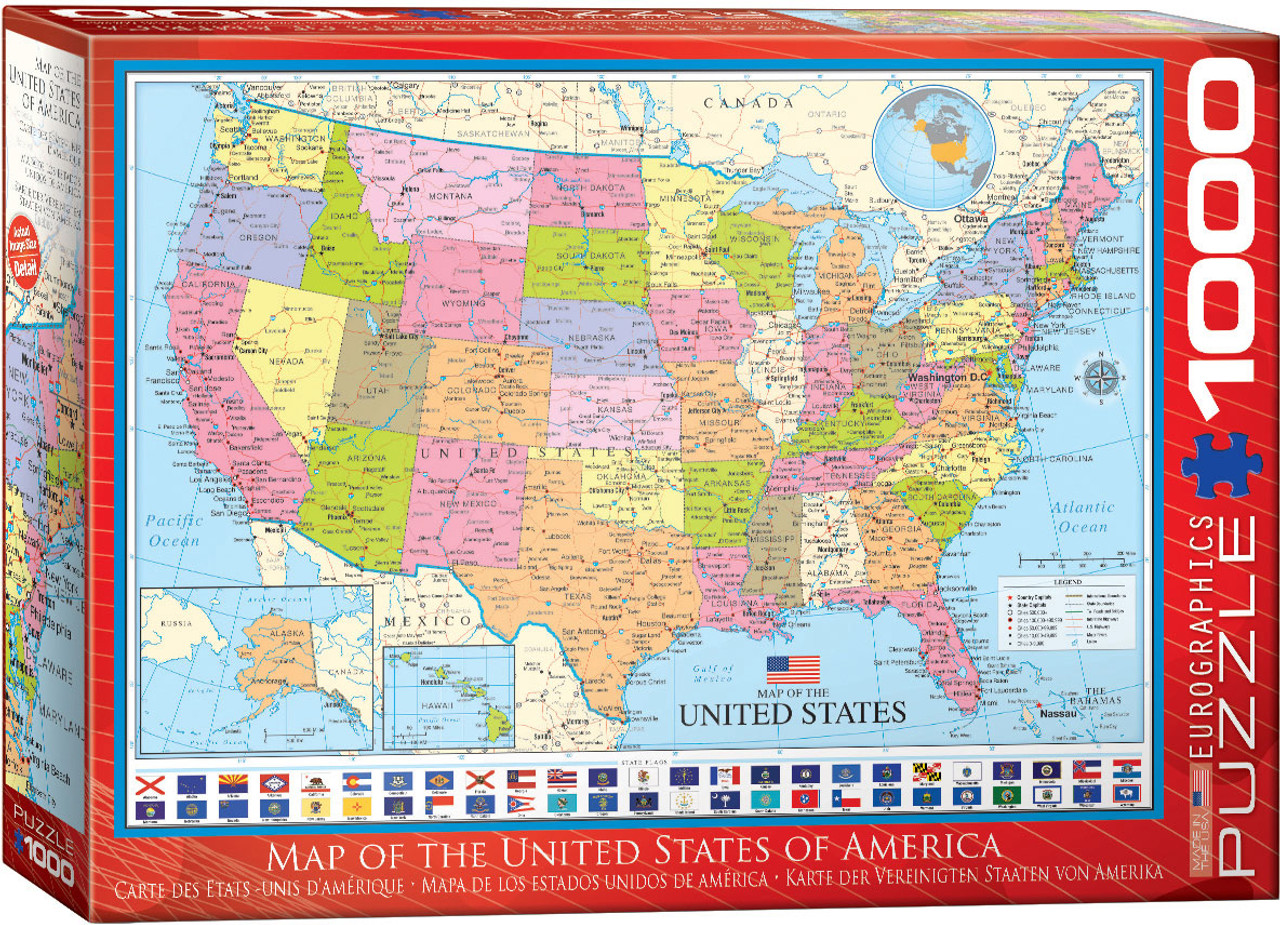 us map jigsaw puzzle Map Of The United States Of America 1000 Piece Jigsaw Puzzle